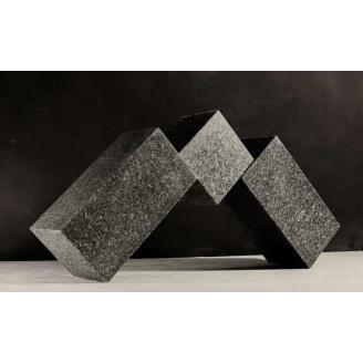 Тротуарная плитка Габбро декоративная гранитная 20х10х3-5 см черная