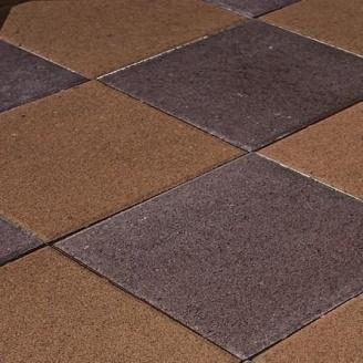 Тротуарная плитка Золотой Мандарин Плита 400х400х60 мм на сером цементе персиковый