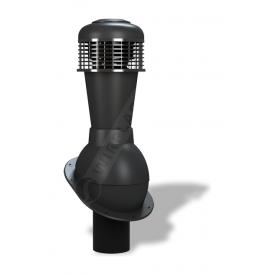 Вентиляционный выход Wirplast Normal К43 110x500 мм черный RAL 9005