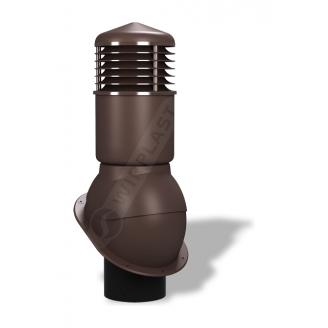 Вентиляционный выход Wirplast Normal К54 150x500 мм коричневый RAL 8017