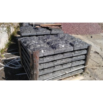 Фасадная плитка Скала из лабрадорита 20х40х6 см