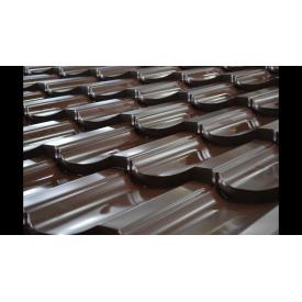 Металлочерепица Модерн полиэстер 1195 мм коричневая