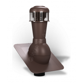 Вентиляционный выход Wirplast Standard К42 110x500 мм коричневый RAL 8017