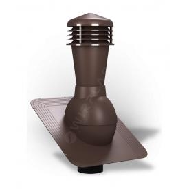 Вентиляционный выход Wirplast Standard К21 110x500 мм коричневый RAL 8017