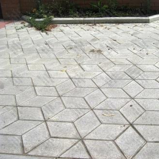 Тротуарная плитка Золотой Мандарин Ромб 150х150х60 мм серый