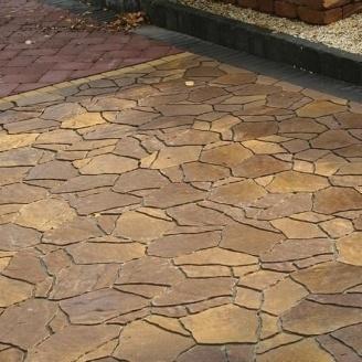 Тротуарная плитка Золотой Мандарин Песчаник 60 мм генуя