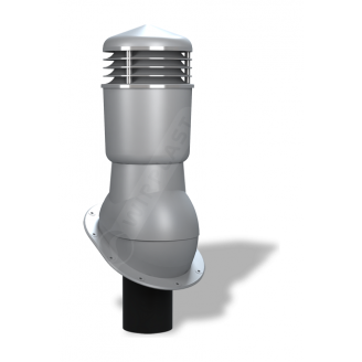 Вентиляционный выход Wirplast Normal К24 110x500 мм серый RAL 7046