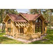 Строительство жилого дома из клееного евробруса 150 м2