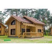 Строительство жилого дома из клееного евробруса 130 м2