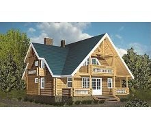 Будівництво житлового будинку з оцилиндрованного бруса 180 м2