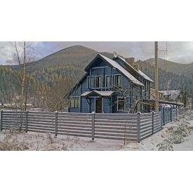 Строительство дома для отдыха из клееного евробруса 120 м2