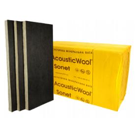 Вата AcousticWool Sonet Р зі скловолокном 80 кг/м3 100 мм 2,4 м2/упаковка