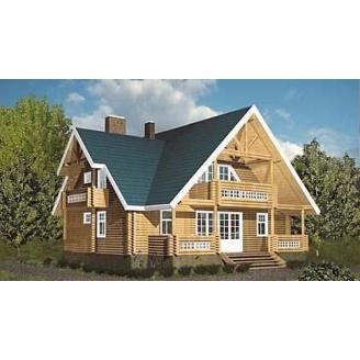 Строительство жилого дома с оцилиндрованного бруса 180 м2