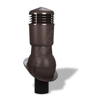 Вентиляционный выход Wirplast Normal К24 110x500 мм коричневый RAL 8019