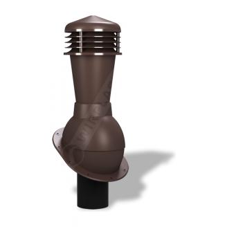 Вентиляционный выход Wirplast Normal К23 110x500 мм коричневый RAL 8019
