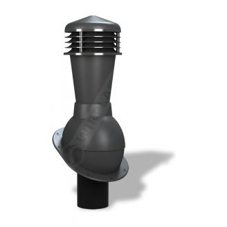 Вентиляционный выход Wirplast Normal К23 110x500 мм антрацитовый RAL 7021