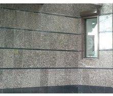 Плитка фасадная Корнинский леопардовый гранит 25-30 мм серая с кремовыми пятнами