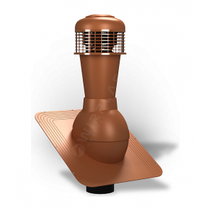 Вентиляционный выход Wirplast Standard К42 110x500 мм кирпичный RAL 8004