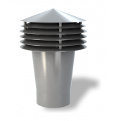 Колпак для вентиляционного выхода Wirplast Gravitation Vent К12-2 160x420 мм серый RAL 7046