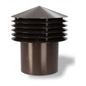 Колпак для вентиляционного выхода Wirplast Gravitation Vent К13-2 200x338 мм коричневый RAL 8017