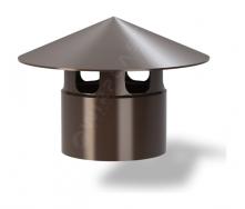 Колпак для вентиляционного выхода Wirplast Roof Vent К4-2 110x143 мм коричневый RAL 8017