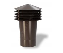 Колпак для вентиляционного выхода Wirplast Gravitation Vent К11-2 110x306 мм коричневый RAL 8017