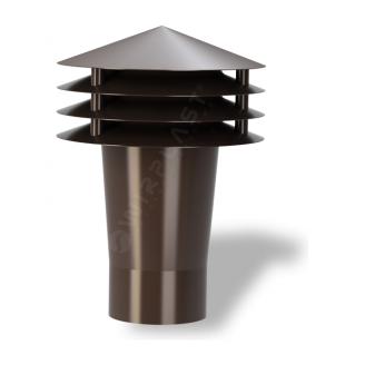 Колпак для вентиляционного выхода Wirplast Gravitation Vent К10-2 75x203 мм коричневый RAL 8017