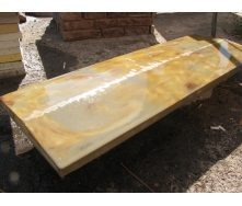 Парапет для заборов 1000х250х50 мм янтарь