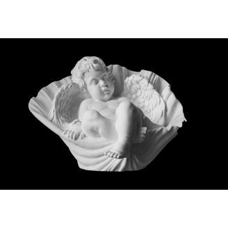 Скульптура Ангел в ракушке 370х400х270 мм