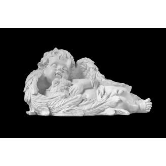 Скульптура Ангел с кроликом 230х450х270 мм