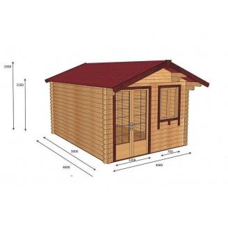 Строительство деревянного дома из профилированного бруса 6х4 м