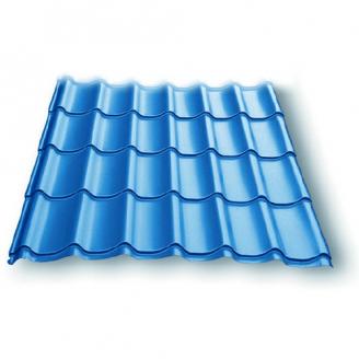 Металлочерепица Монтеррей 0,45 мм синяя