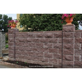 Блок декоративный бетонный Золотой Мандарин 400х200х200 мм коричневый
