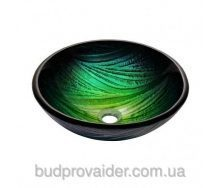 Раковина природного оттенка зеленого и бирюзового GV-391-19mm
