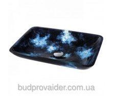 Сине-голубая стеклянная раковина GVR-430-RE-15mm