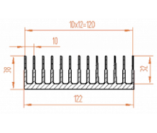 Алюминиевый радиатор 122х38/БП
