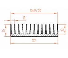 Алюминиевый радиатор 122х26/БП