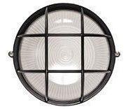 Світильник НПП2604А чорний/овал з алюмінієвою решіткою пластик 60Вт IP54 ІЕК (шт.)