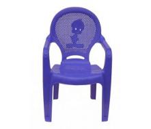 Детское кресло пластиковое Утенок фиолетовое