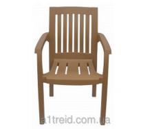 Кресло пластиковое офисное Базилик бежевое стул пластиковый