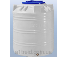 Емкость 300 литров вертикальная однослойная