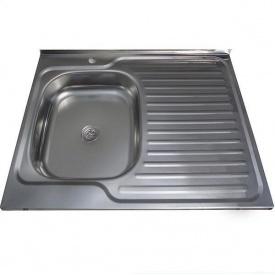 Мийка кухонна накладна 80*60