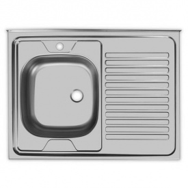 Мойка накладная Platinum 80x60