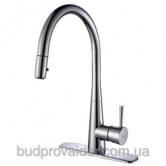 Кухонный кран с выдвижным распылителем и переключа-телем напора KPF-2240 CH