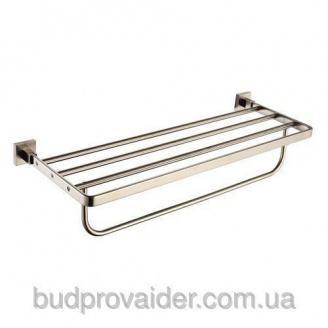 Полочка с держателем для полотенец Aura KEA-14442 BN