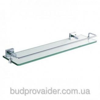 Полочка стеклянная с бортиком Aura KEA-14445 CH