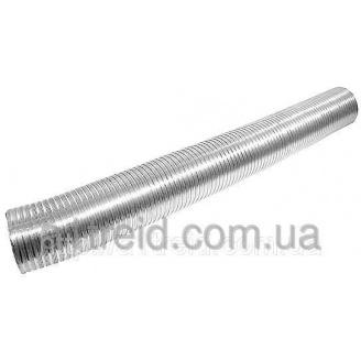 Алюминиевый гофрированный воздуховод, 80мкм (L 3м), D 100мм (Россия)