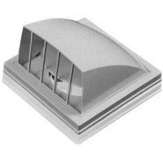 Выход стенной, вытяжной, с обратн. клапаном, с флан., ABS, D 100 мм, 150х150 мм (1515К10ФВ) (Россия) Вихід стінний, витяжний, з оберн. клапаном, з