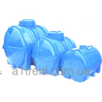 Емкость горизонтальная 1500 литров 180х123х106 2-слойная