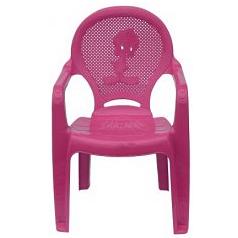 Детское кресло пластиковое Утенок розовое